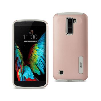 New LG K10 Solid Armor Dual Layer Protective Case In Rose Gold By Reiko