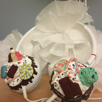 Candyland Sweetie Cupcake Headphones -- Deluxe Custom Headphones
