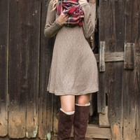 By Popular Vote Mocha Brown Sweater Dress