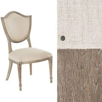 Shield Back Dining Chair in Linen