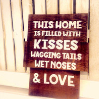 Rustic Wood Sign, Barn Red Sign, Quote on Wood, Dog lover Gifts, Trending Gift Ideas, Rustic Gifts