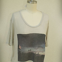 NWTJohn Galt Brandy Melville Crop Top Santa Monica Italy Soft Cut Wide One Size