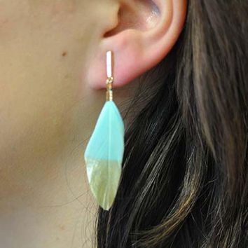 Nira Feather Earrings