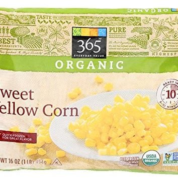 365 Everyday Value, Organic Sweet Yellow Corn, 16 oz, (Frozen)