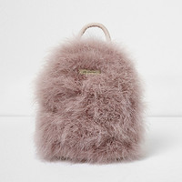 Pink feather mini backpack - Backpacks - Bags / Purses - women