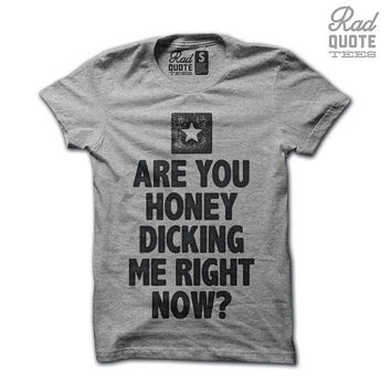 Are You Honey Dicking Me Right Now - The Interview T Shirt, Funny t shirt, humorous, movies, quote, funny quote,