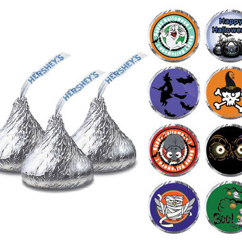 Halloween Hershey Kiss Labels - Set of 80