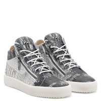 Giuseppe Zanotti Gz Kriss Crocodile Printed Leather Mid-top Sneaker