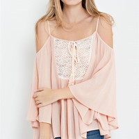 Emmy Boho Top - Peach