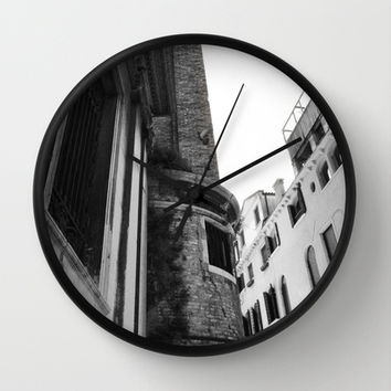 Italy Architecture Wall Clock by Kayleigh Rappaport