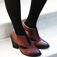 Jeffrey Campbell Womens Deep V Ankle Boot
