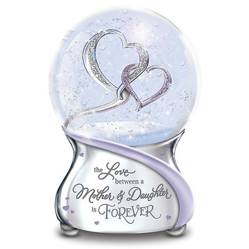 """Today Tomorrow Always"" Personalized Musical Glitter Globe"