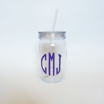 Monogrammed Tumbler, Round Monogram, Purple Monogram, Monogram Cups, Monogram Gifts, Sorority Gifts, Rush Gifts, Little Gifts, Big Gifts