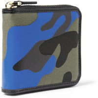 Valentino - Camouflage-Print Leather and Canvas Zip Wallet   MR PORTER