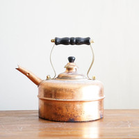 Vintage Copper Teapot Tea Kettle