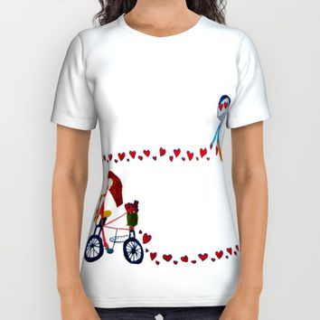 I'm in love | Be my Valentine | Kids Painting All Over Print Shirt by Azima