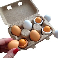Wooden Kitchen Toys For Girls Kids Pretend Play Food Eggs Baby Toys Set Yolk Food Eggs Preschool Educational Toys for Children