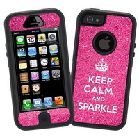 "Keep Calm and Sparkle ""Protective Decal Skin"" for Otterbox Defender iPhone 5 Case"