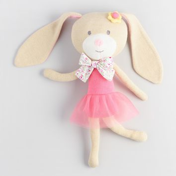 Travel Buddies Knit Plush Bunny