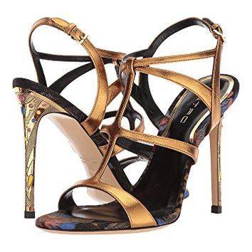 Etro Metallic Strappy Heel