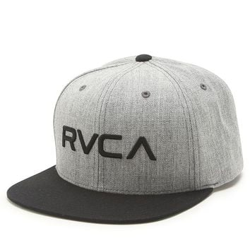 RVCA Twill Snapback Hat - Mens Backpack - Grey - One