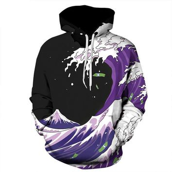 The Great Wave off Kanagawa Sea All Over Print Hoodie Sweater