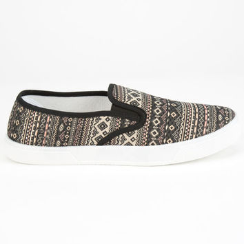 Twisted Slip On Womens Shoes Black/Multi  In Sizes