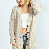 Daisy Cable Boyfriend Cardigan