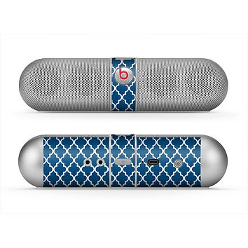 The Navy & White Seamless Morocan Pattern Skin for the Beats by Dre Pill Bluetooth Speaker