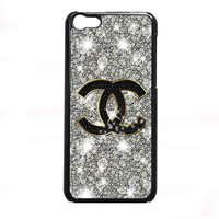 Coco Chanel Glitter Painting FOR IPHONE 5C CASE *NP*