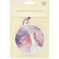 Purple Unicorn You Can't Ride With Us Vanilla Air Freshener