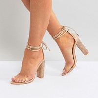 Public Desire Fatale Sparkle Heeled Sandals at asos.com