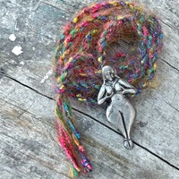 Fertility Goddess Spirit Cord made with lusciously vibrant fibers