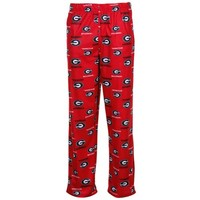Georgia Bulldogs Youth Red Team Logo Flannel Pajama Pants
