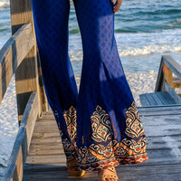 Desert Nights Blue Flare Pants