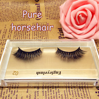 3D natural long lashes horse hair false eyelashes eyelash extension