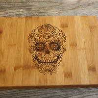 Sugar Skull Cutting Board - Day of the Dead Inspired