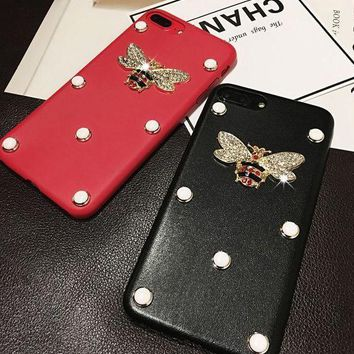 PEAPJ1A Gucci  Pearl bee phone case shell  for iphone 6/6s,iphone 6p/ 6splus,iphone 7, iphone7plus