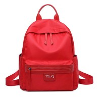 Simple Oxford Pure Color Student Bag School Backpack