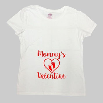 Valentines Day Pregnancy Reveal Valentines Shirt Baby Announcement Maternity  Gifts For Expecting Mother New Baby T