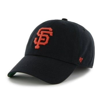San Francisco Giants Black Franchise Slouch Fitted Dad Hat