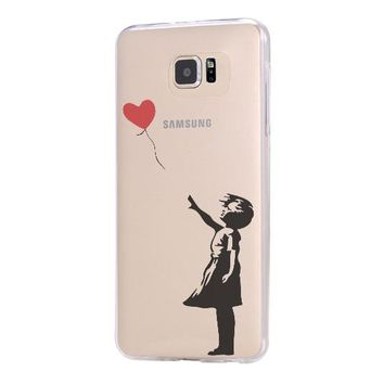 Banksy girl Galaxy s6 Case Galaxy S6 Edge Case Galaxy S5 Clear Hard case C163