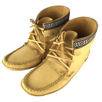 Men's Moosehide Leather Moccasin Boots - 37597M