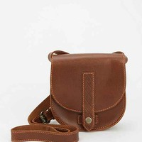 Kimchi Blue Luisa Embossed Leather Saddle Bag- Brown One