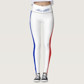 LEGGINGS BLUE WHITE AND RED FRENCH HAVIC ACD