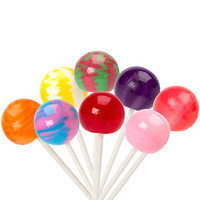 Original Gourmet Cream Swirl Ball Lollipops: 8-Piece Gift Box
