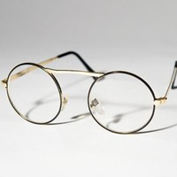VENBE - Market Place - Vintage Deadstock Gold Round Potter Eye Glasses Sunglasses A26