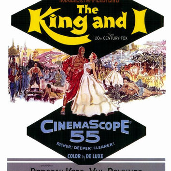 The King and I 27x40 Movie Poster (1956)
