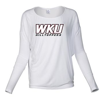 Official NCAA Western Kentucky University Hilltoppers - PPWKY06 Women's Loose Pico Top