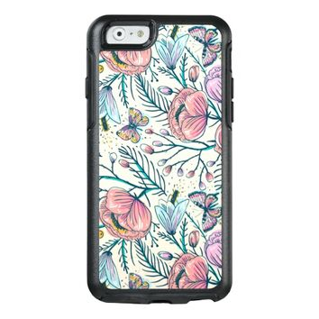 Girly Vintage Rose Garden Flower Pattern Elegant OtterBox iPhone 6/6s Case